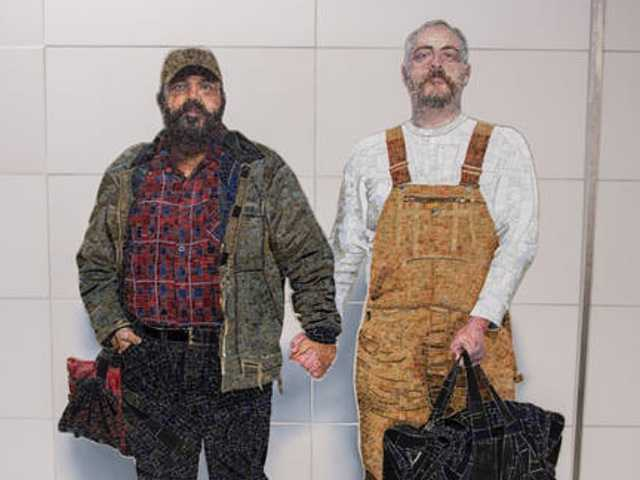 New Subway Station has Public Art Rarely Seen: A Gay Couple
