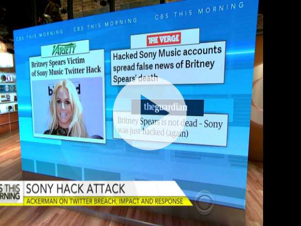Sony Twitter Hacked, Falsely Claims Britney Spears Died