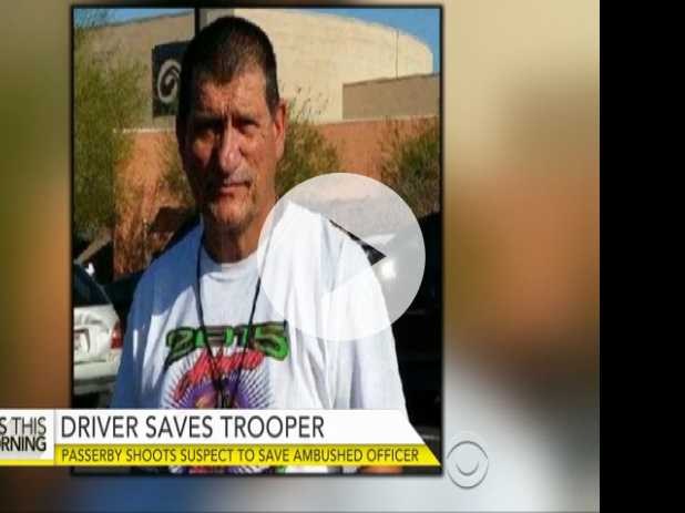 Driver Passing by Shoots Suspect to Save Ambushed Ariz. Trooper