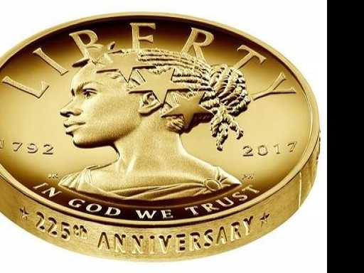 Liberty Depicted as Black Woman on $100 Gold Coin
