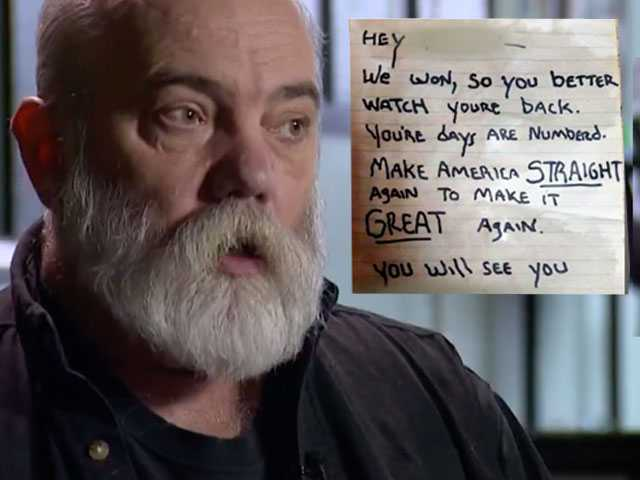 Watch: Gay-Owned Tattoo Shop Owner Receives Threatening Note in Possible Hate Crime