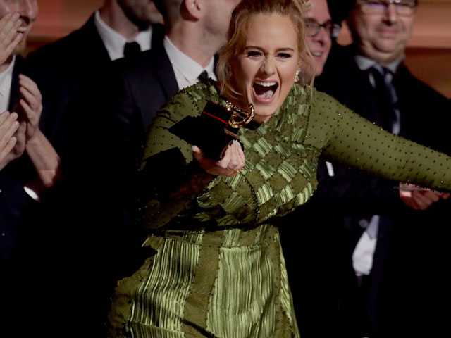 Mama Beyonce Shines, Adele Flubs in Grammy's Top Moments