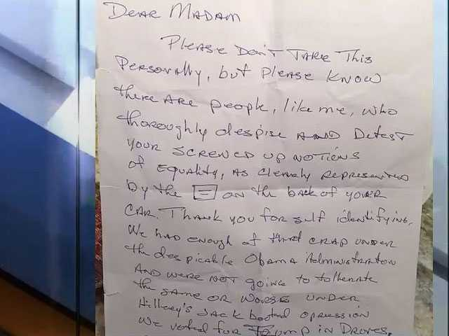 Watch: Elderly Lesbian Couple Find a Trump Supporter's Hateful Note