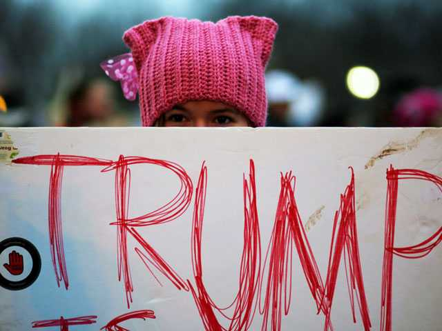 From Protests to 'Pussy Hats,' Trump Resistance Brews Online