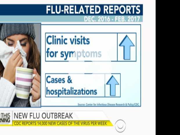 CDC Reports 14,000 New Cases of Flu Per Week