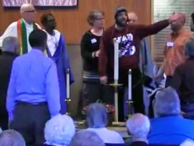 Church Led by Gay Pastor Dismisses Homophobic Protester
