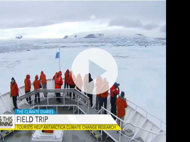 Tourists Help Antarctica Climate Change Research
