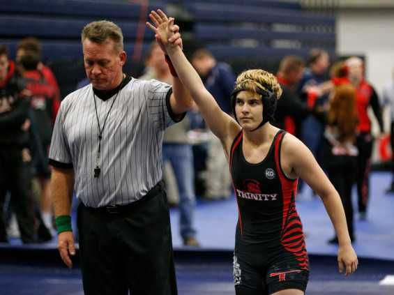 Transgender Boy with Girls Wrestling Title: 'I Don't Cheat'
