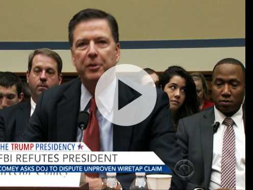 FBI Director Asks DOJ to Dispute Trump's Wiretap Claim