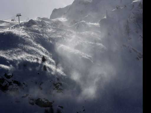 Avalanche Strikes French Alps Resort of Tignes
