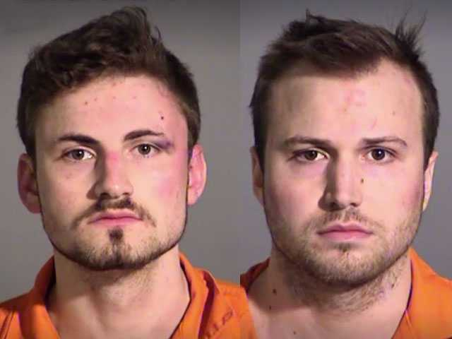 Watch: Naked Bros 'Passionately' Make Out, Get Arrested for Allegedly Punching Woman in Head