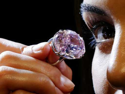 Pink Diamond Worth Millions Shown in London