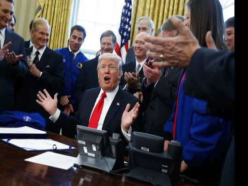 Trump Signs NASA Bill, Ponders Sending Congress to Space