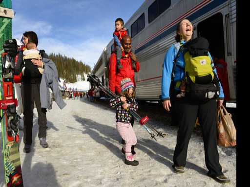 It's a Hit! Nation's Only Airport-to-Ski-Slope Train