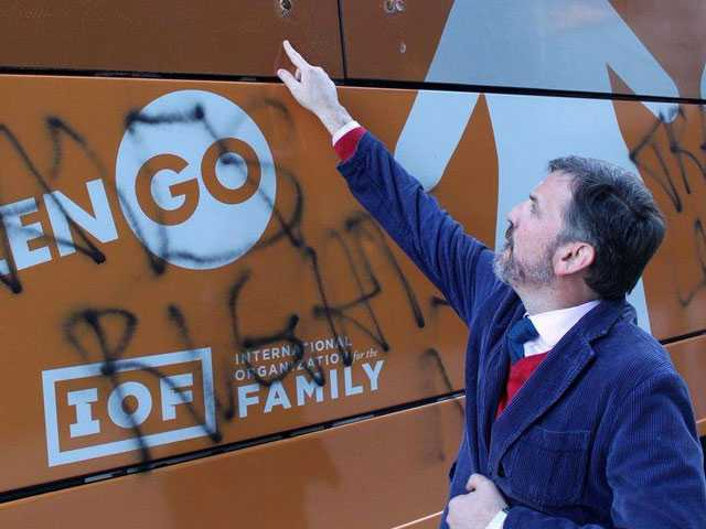 Anti-LGBT Mouthpiece Calls on NYPD to Prosecute Hate Bus Vandalism as Anti-Religious Hate Crime