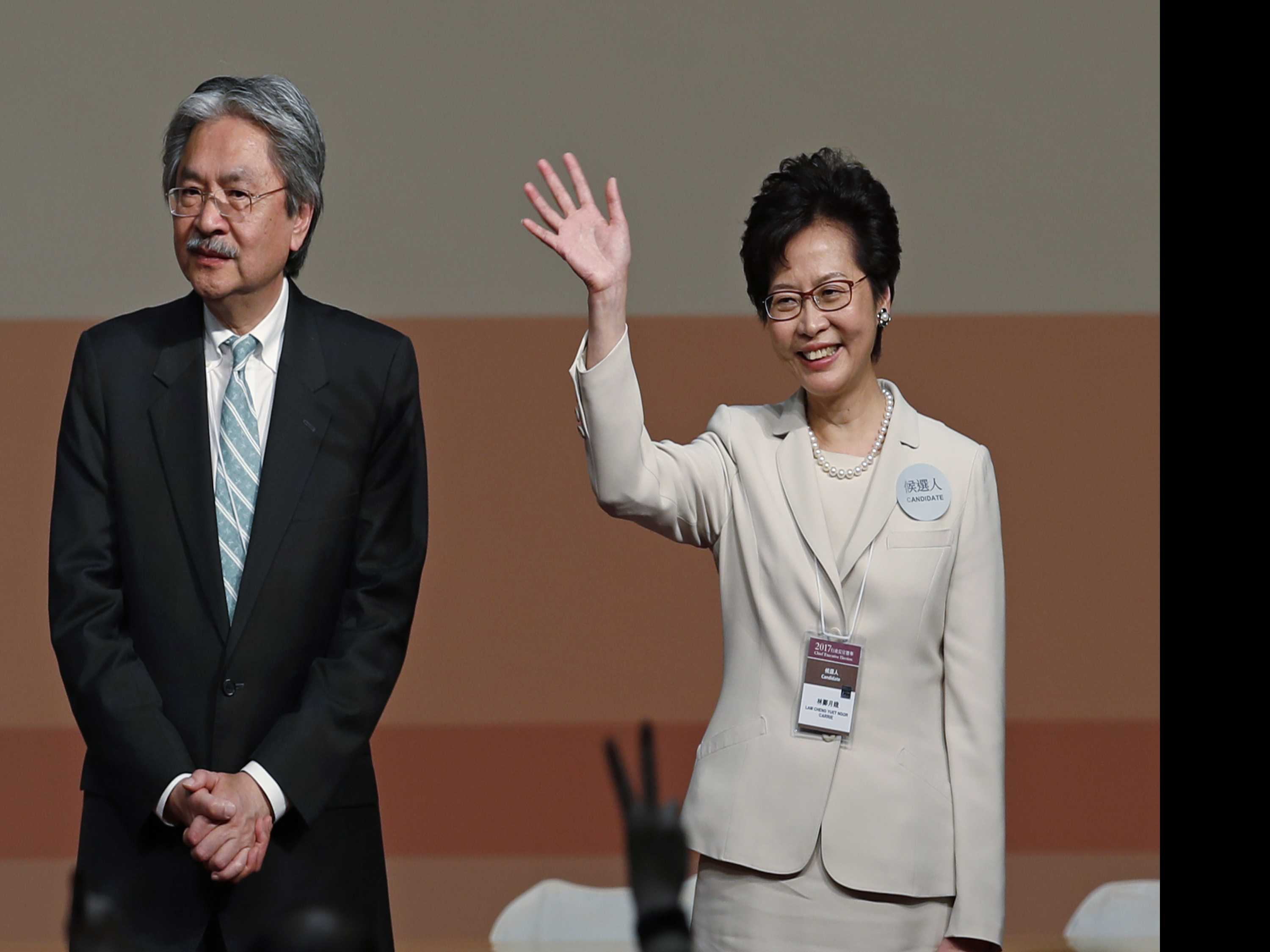 No Surprise: Beijing's Pick Lam Chosen as Hong Kong's Leader