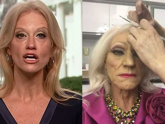 Internet Drags Kelleyanne Conway with This Pic of Patrick Stewart in Drag