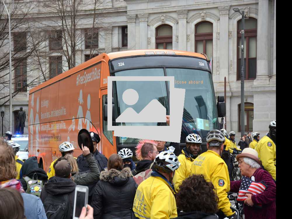 Philly Protests Anti-Transgender 'Free Speech Bus'