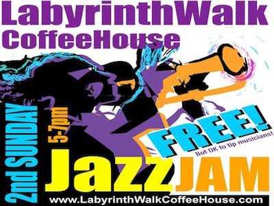 Labyrinth Walk Coffee House Hosts Jazz Jam, Holistic Fair