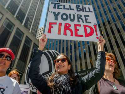 NOW-NYC Protests Fox News Demanding Bill O'Reilly Be Fired