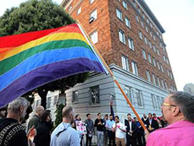 SF Protest Targets Chechnya