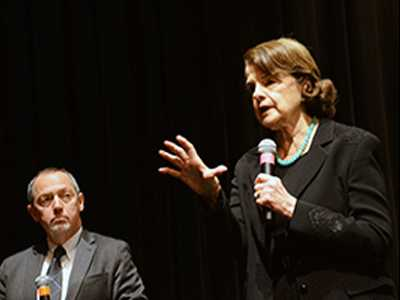 Sen. Feinstein Has Rowdy SF Town Hall