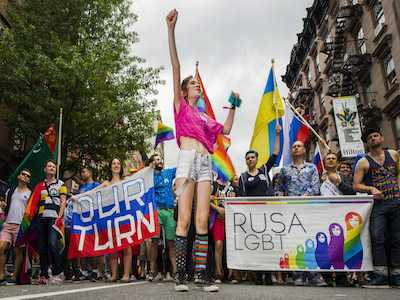 LGBT Activists Stage Memorial for Murdered and Tortured Chechens at NYC's Russian Consulate