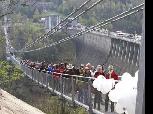 Don't Look Down: 1,500-Foot Footbridge Opens in Germany