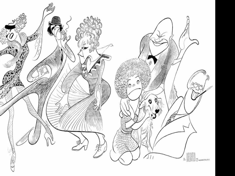 Legendary Caricaturist Al Hirschfeld Arrives at the Algonquin