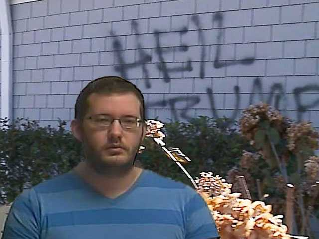 Church Forgives Gay Organist Accused of Painting Pro-Trump, Anti-Gay Graffiti on Church