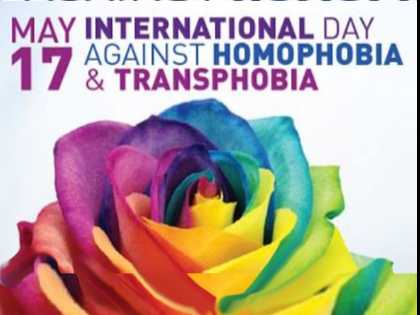 May 17 is IDAHOT, International Day Against Homophobia, Transphobia, and Biphobia