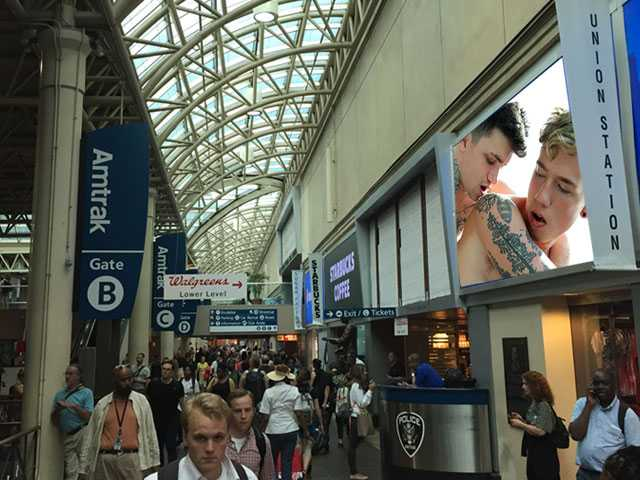 Union Station's Advertisement Screen Played Porn Videos