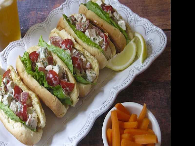 Memorial Day Must-Eat: BLT Chicken Salad Sandwich