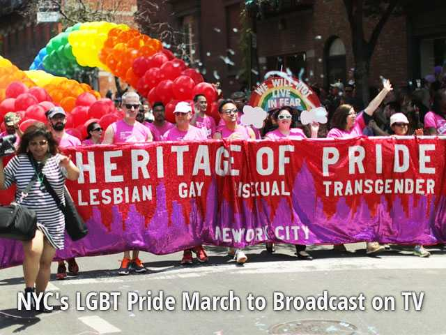 NYC's LGBT Pride March to Broadcast on TV
