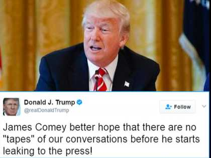 Trump Admits There Are No Comey Tapes