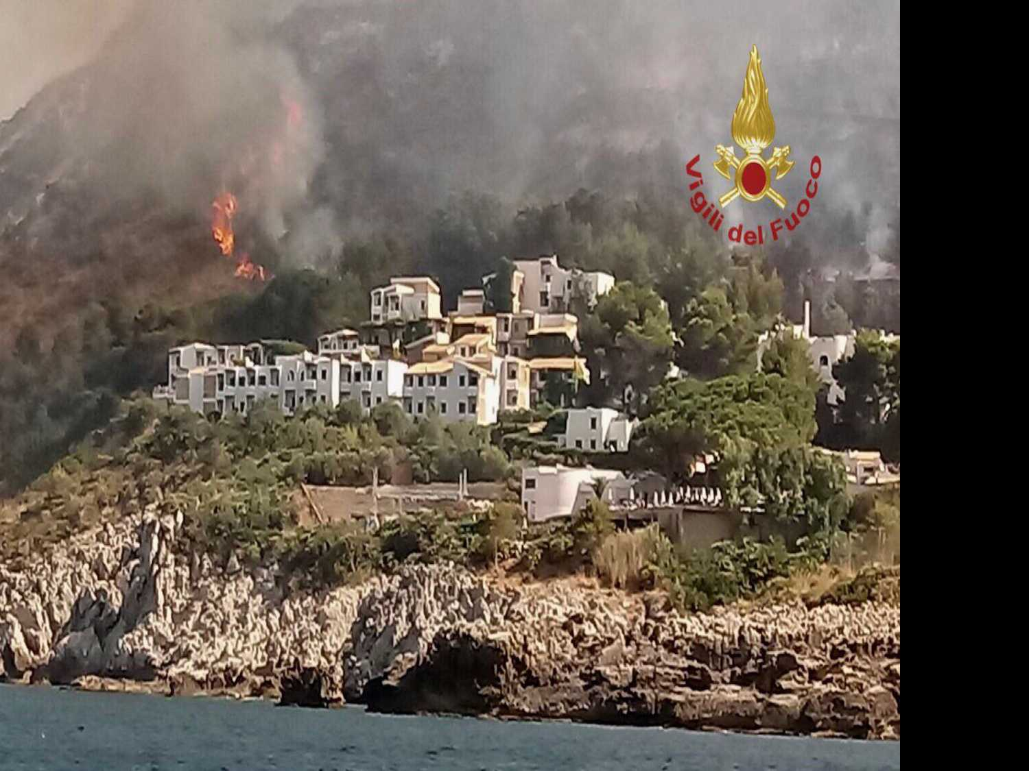 Vacationers in 'Tense' Evacuation from Sicily Wild Fires
