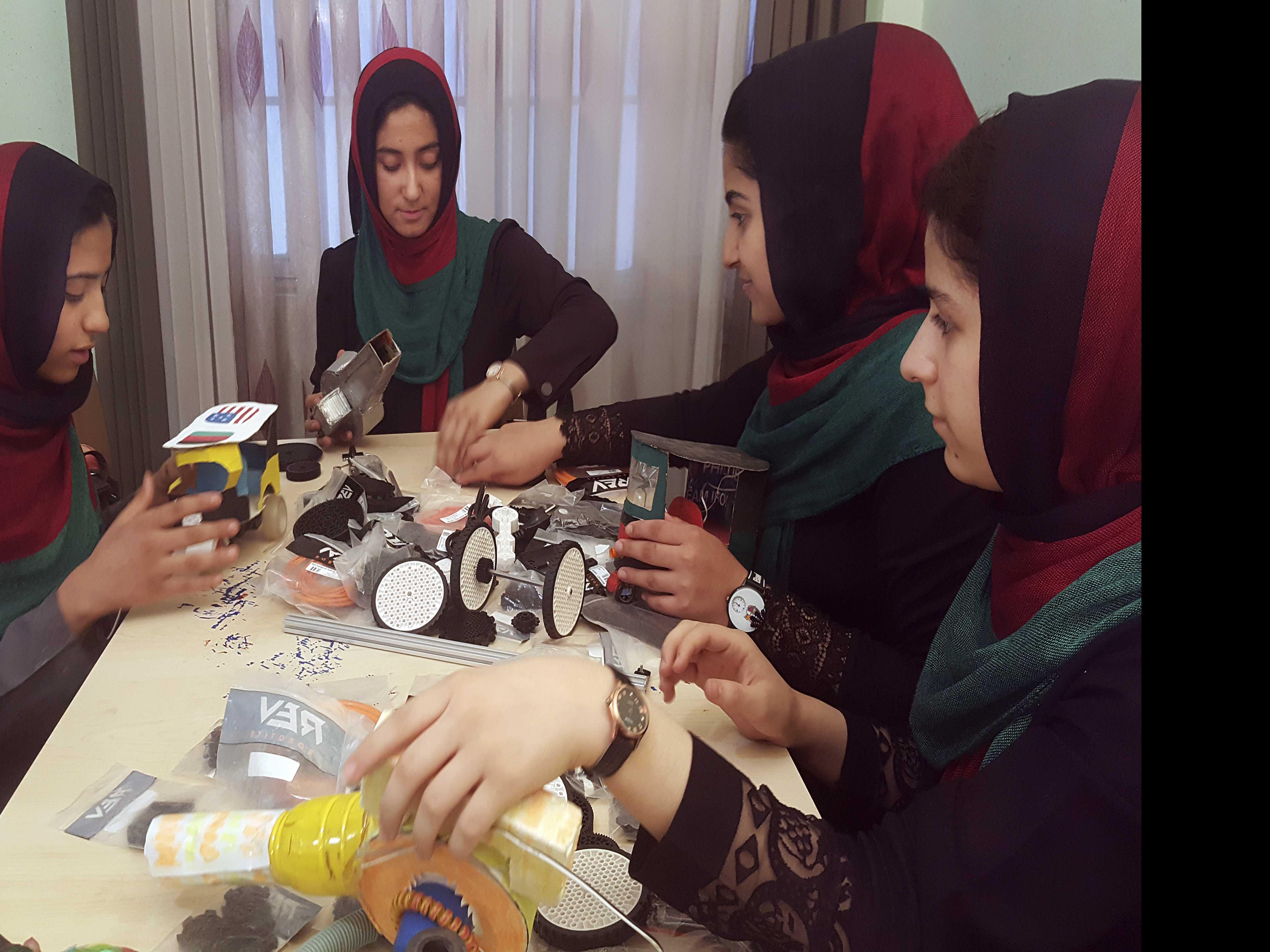 Afghan Girls Robotics Team Arrives in Kabul