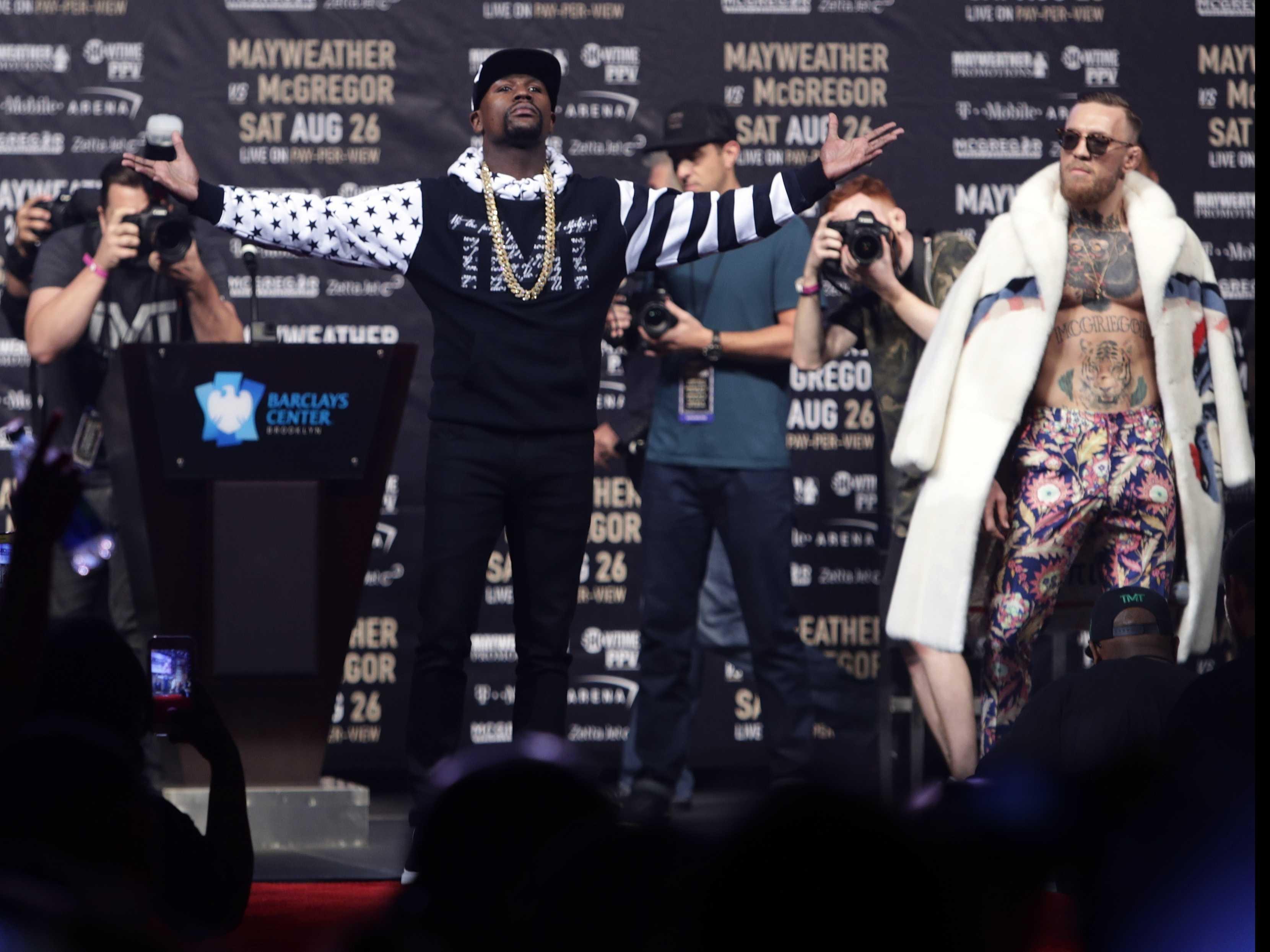 Mayweather, McGregor Exchange Profanities, Barbs in Brooklyn