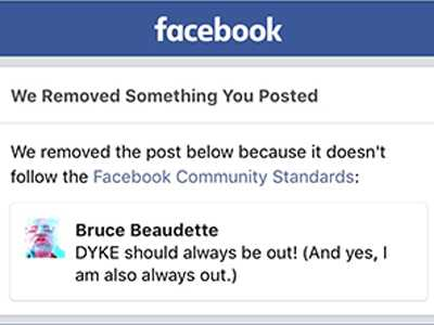 LGBTs Flagged on Facebook for 'Inappropriate' Content