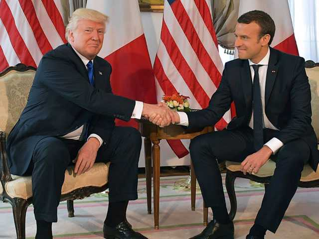 Trump Claims French President 'Loves Holding My Hand!'