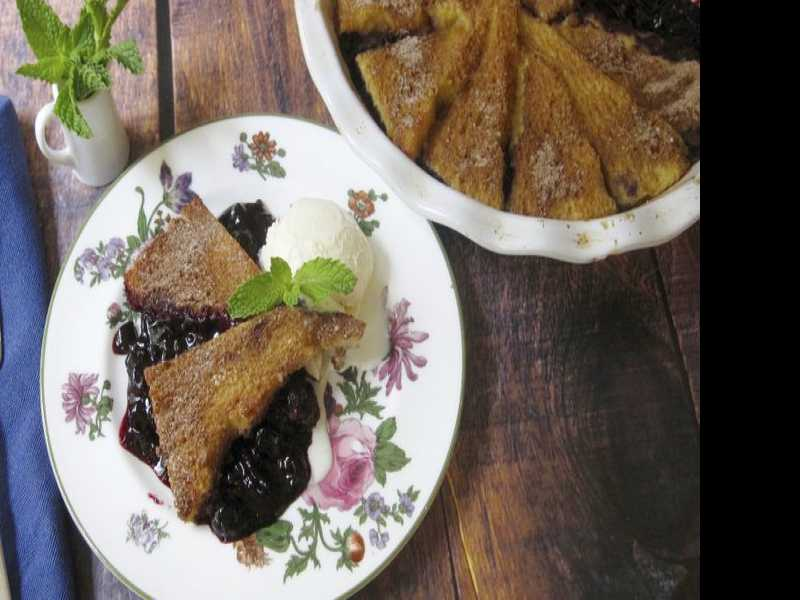 Recipe: Blueberry Pie with Cinnamon French Toast Crust