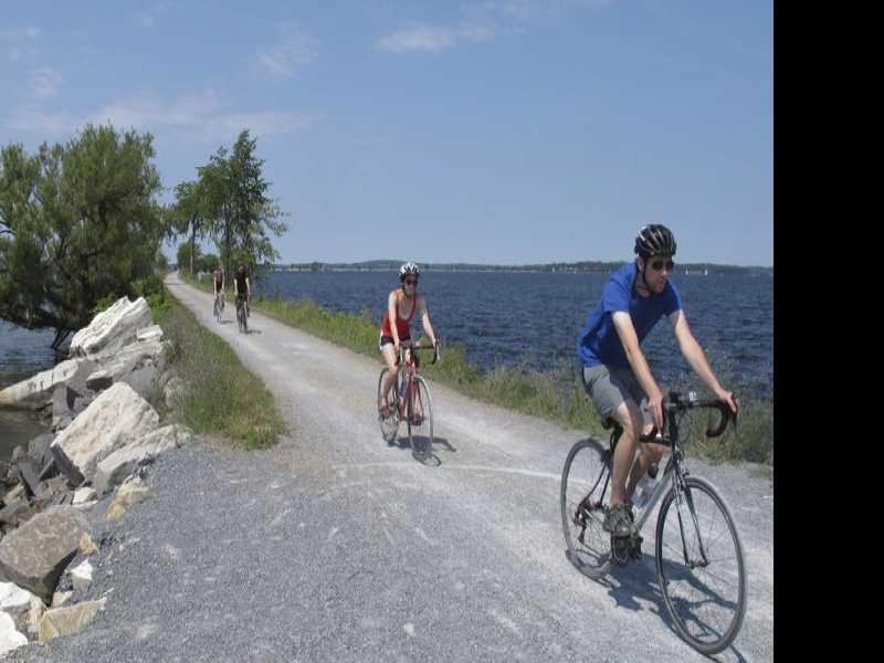 Biking Across Lake Champlain on an Old Rail Causeway