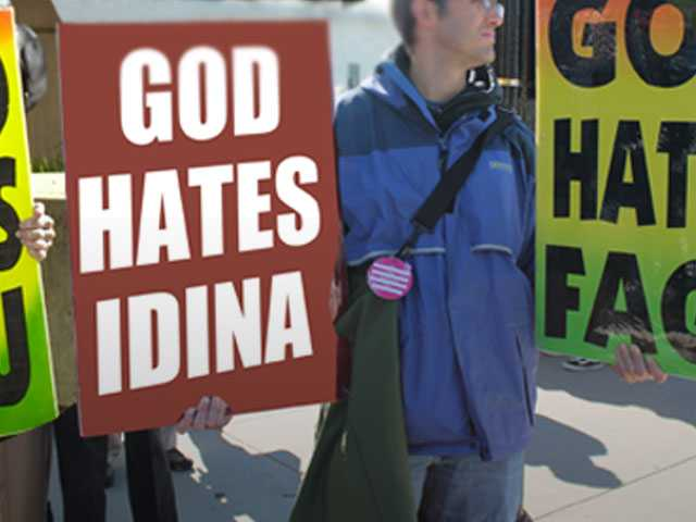 God Hates Divas: Idina Menzel Targeted with Westboro Baptist Church Protest