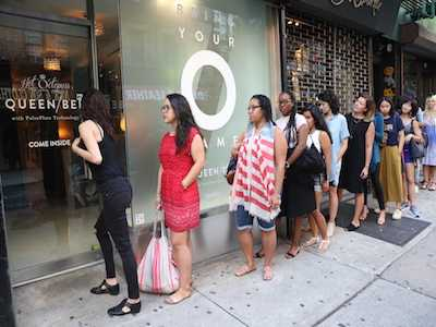 Crowds Line Up in NYC's East Village for the World's First Orgasm Pop-Up Shop