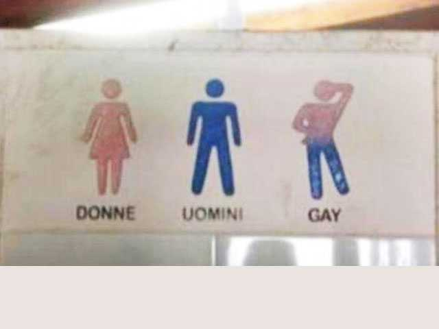 Italian Hotel Comes Under Fire for 'Gay Bathroom' Sign
