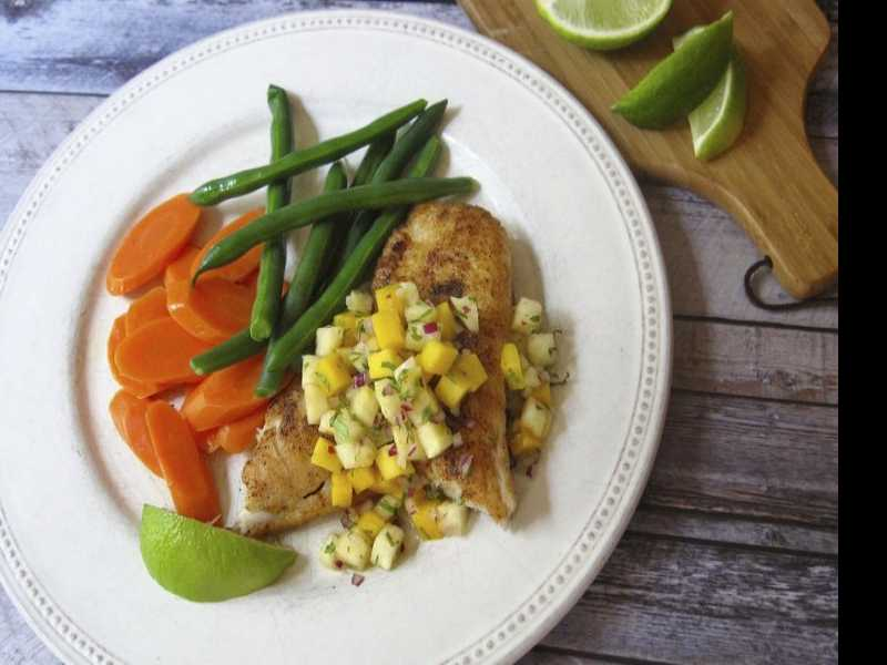 Midweek Meal: Spicy Sauteed Fish with Tropical Salsa