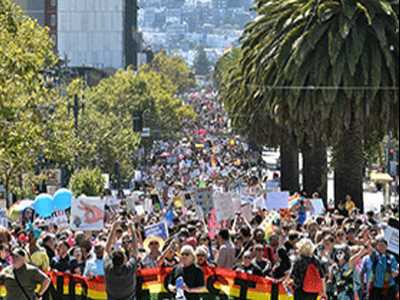 SF Shuts Down Right-Wing Protesters