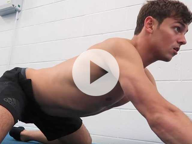 Watch: Tom Daley Gets 'Hot and Sweaty' in New Workout Video