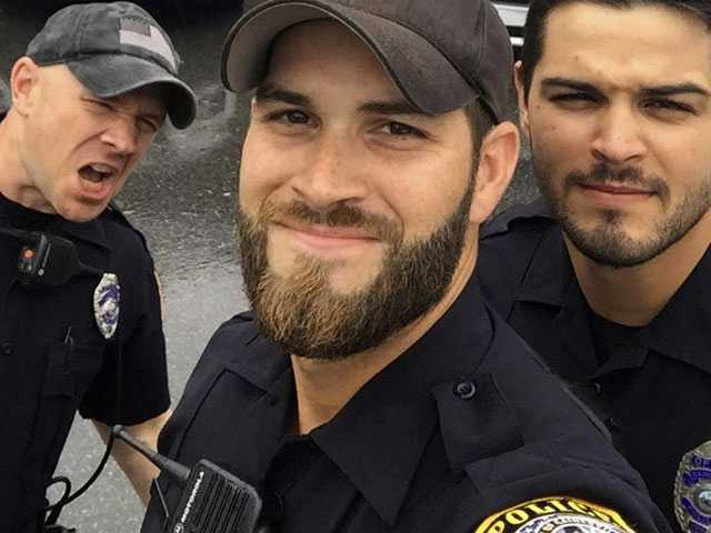 Hunky Cops Photo Prompts Facebook Users to Ask for Arrests