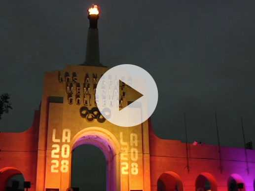 LA Wins 2028 Games, Lights Olympic Cauldron